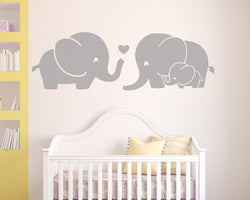 Elephant Family Decal Vinyl Wall Sticker