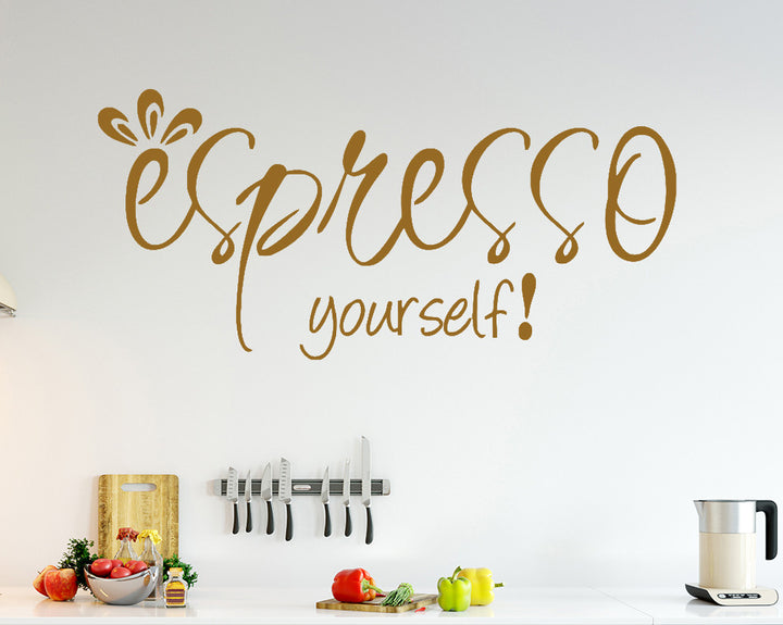 Coffee Quote Decal Vinyl Wall Sticker