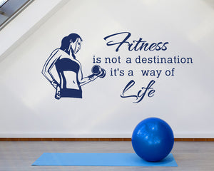 Fitness Quote Decal Vinyl Wall Sticker