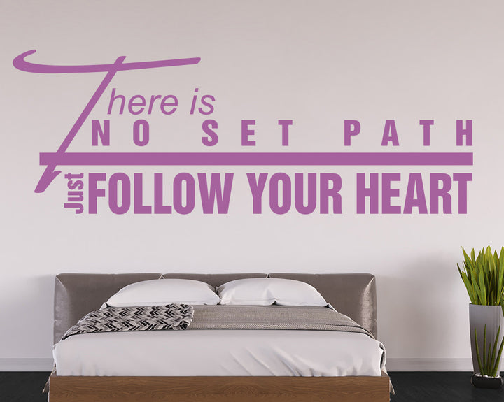 Follow Your Heart Decal Vinyl Wall Sticker
