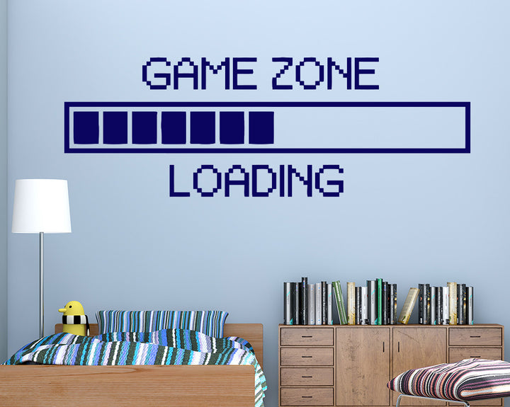 Game Zone Loading Decal Vinyl Wall Sticker