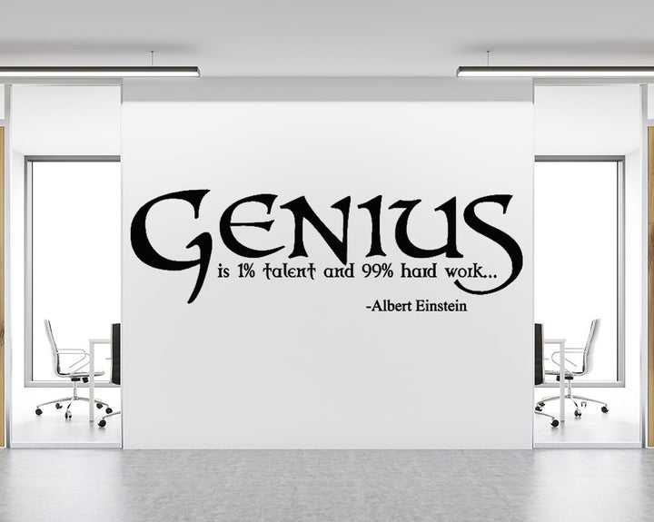 Genius Decal Vinyl Wall Sticker