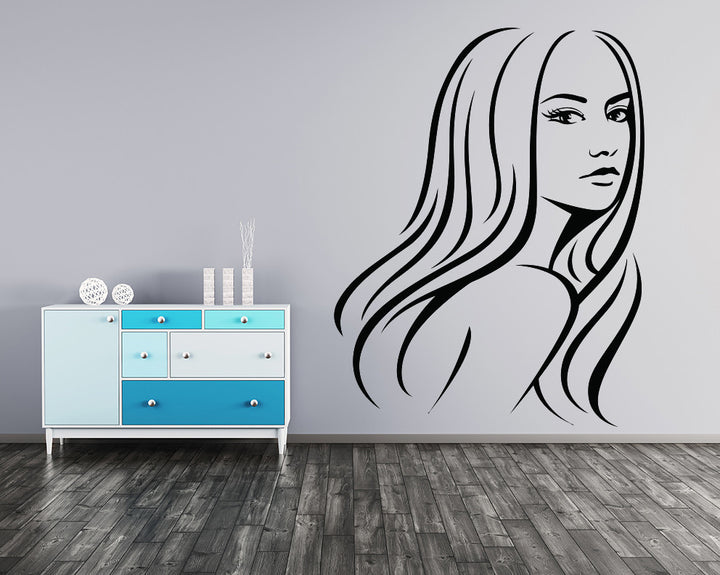 Girl Decal Vinyl Wall Sticker