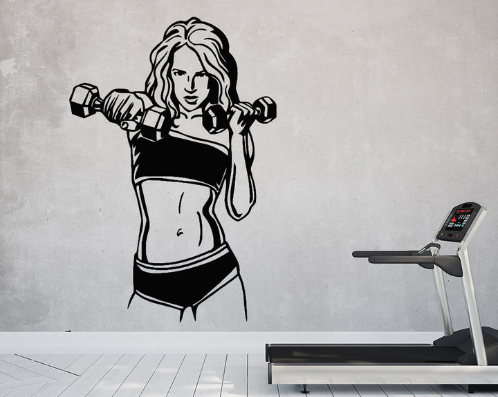 Fitness Girl Decal Vinyl Wall Sticker