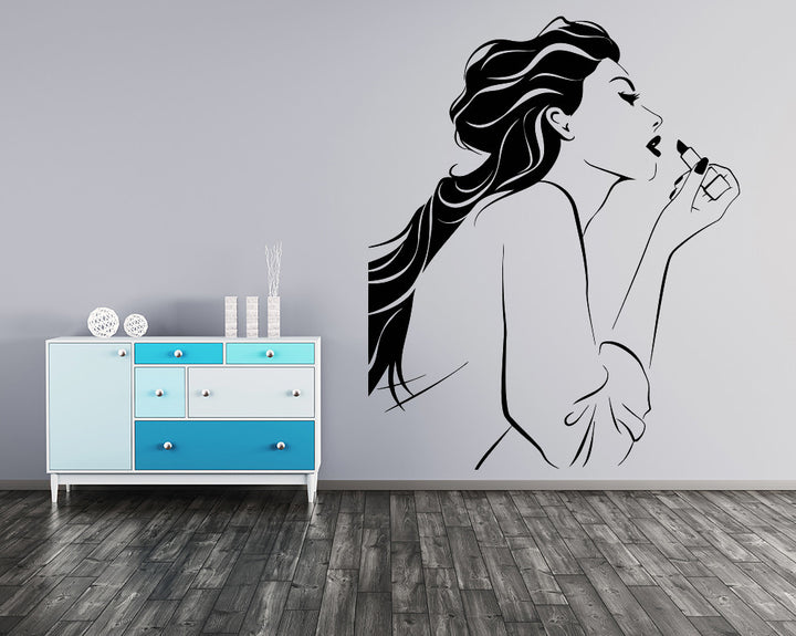 Lipstick Decal Vinyl Wall Sticker