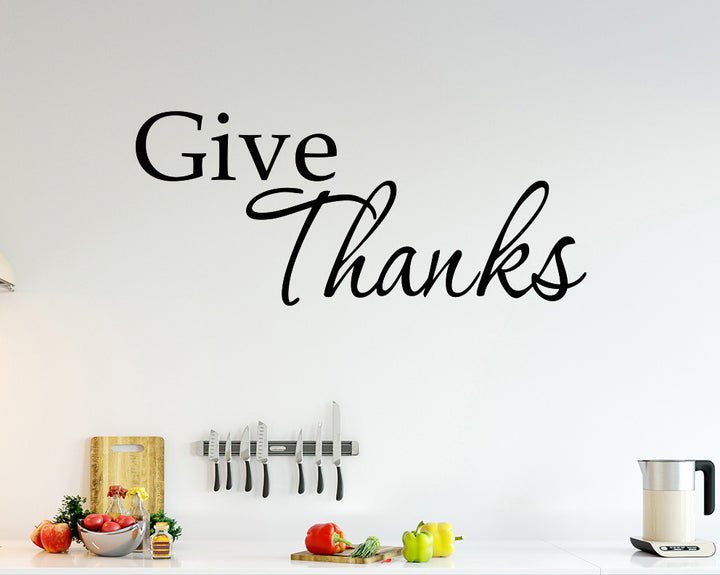 Thankful Decal Vinyl Wall Sticker