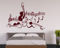Guitar Decal Vinyl Wall Sticker