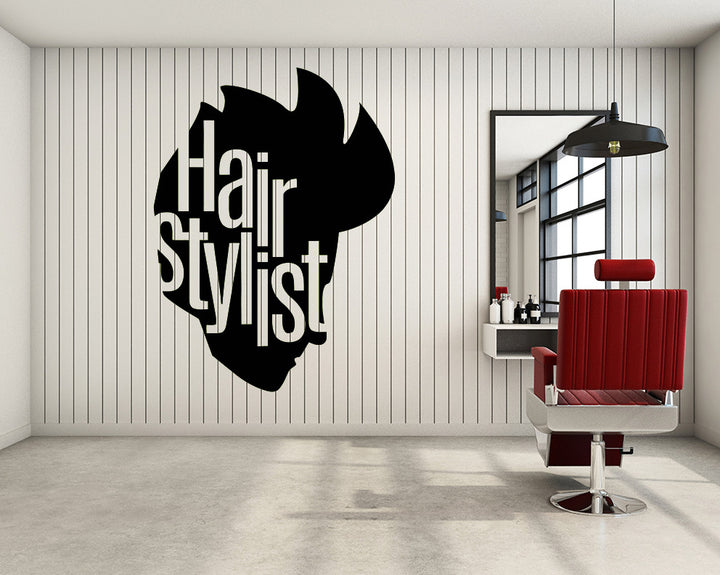 Hair Stylist Decal Vinyl Wall Sticker