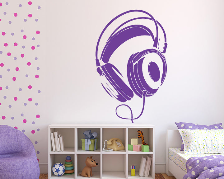 Earphones Decal Vinyl Wall Sticker
