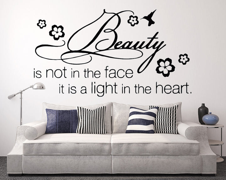 Beauty Quote Decal Vinyl Wall Sticker
