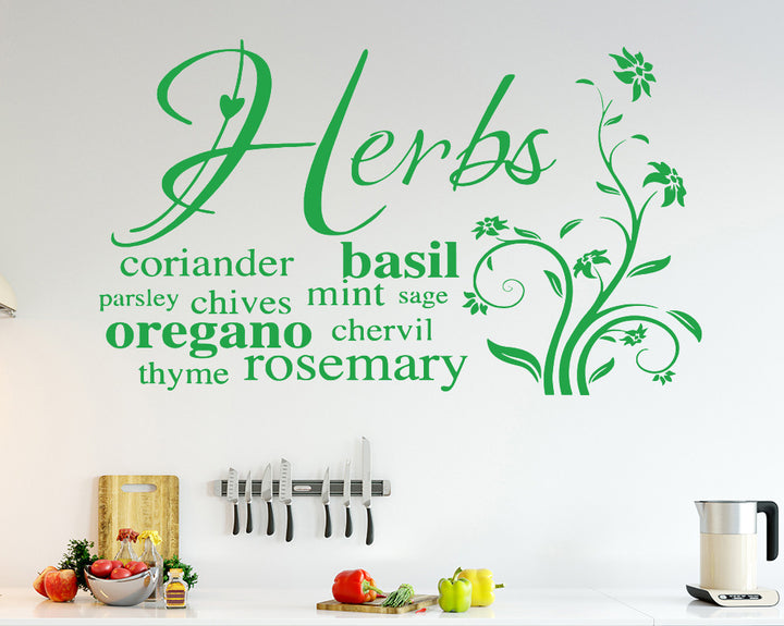 Herbs Decal Vinyl Wall Sticker