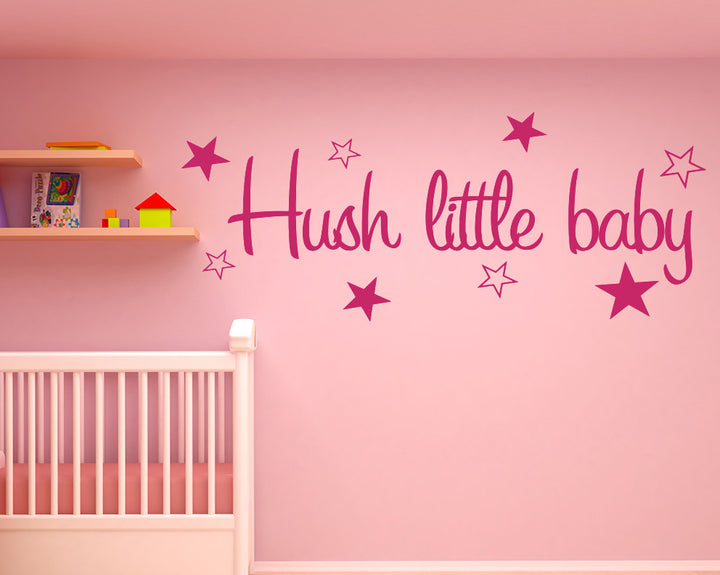 Hush Little Baby Decal Vinyl Wall Sticker