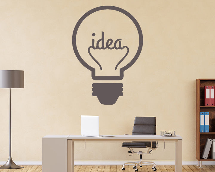 Lightbulb Decal Vinyl Wall Sticker