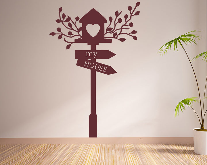Birdhouse Decal Vinyl Wall Sticker