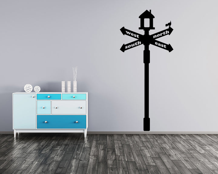 Sign Post Decal Vinyl Wall Sticker