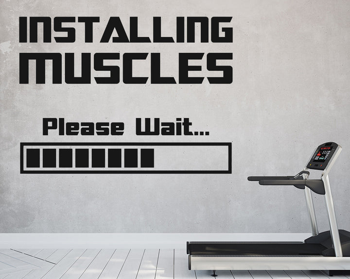 Muscle Decal Vinyl Wall Sticker