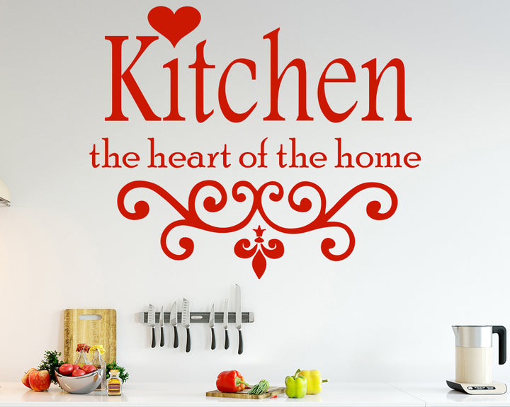 Heart Of The Home Decal Vinyl Wall Sticker