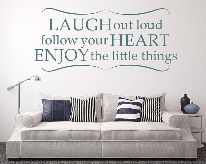 Laugh Out Loud Decal Vinyl Wall Sticker