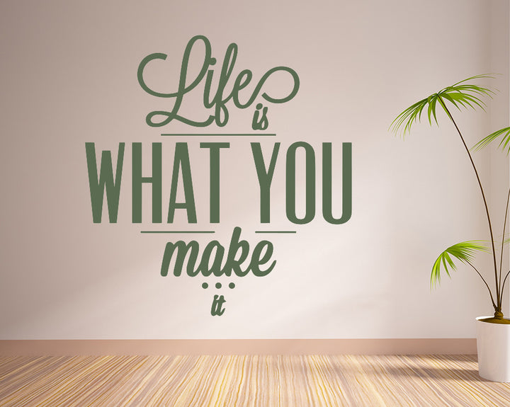 Life Quote Decal Vinyl Wall Sticker