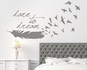 Feather Decal Vinyl Wall Sticker