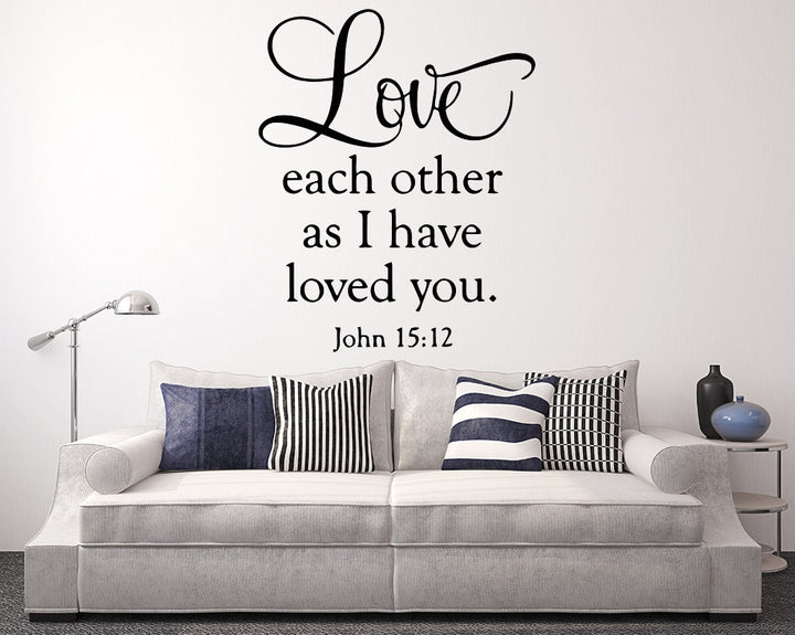 Bible Quote Decal Vinyl Wall Sticker