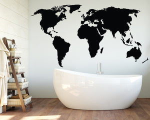 Map Decal Vinyl Wall Sticker