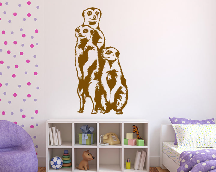 Meerkat Family Decal Vinyl Wall Sticker