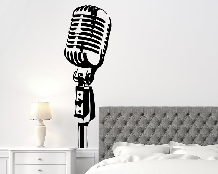 Microphone Decal Vinyl Wall Sticker
