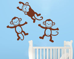 Cute Monkey Decal Vinyl Wall Sticker
