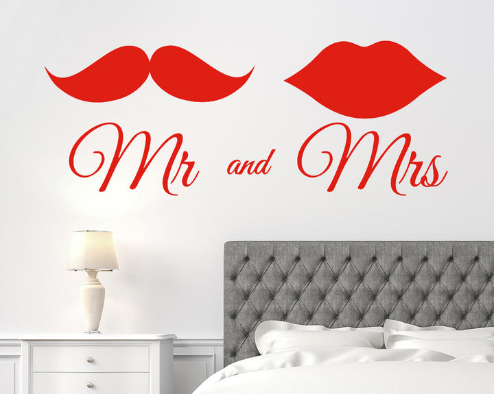 Mr And Mrs Decal Vinyl Wall Sticker