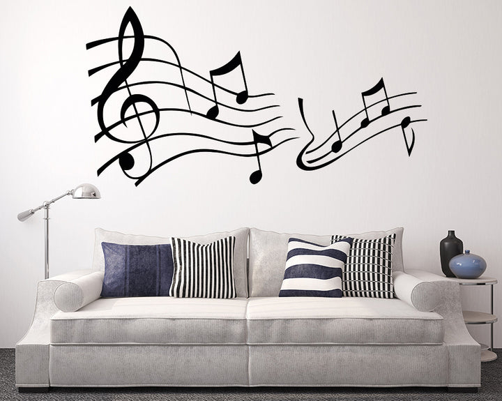 Music Notes Decal Vinyl Wall Sticker