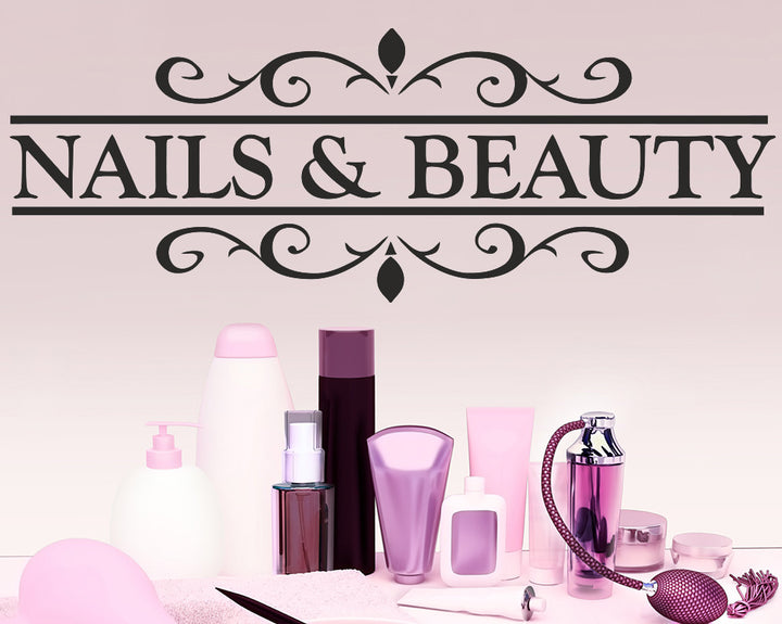 Nails/Beauty Decal Vinyl Wall Sticker