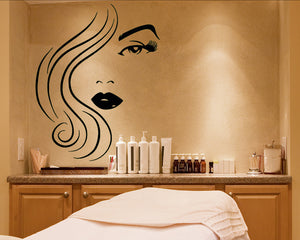 Glamorous Girl Decal Vinyl Wall Sticker