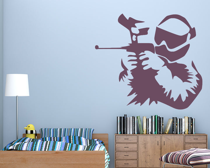Paintball Decal Vinyl Wall Sticker