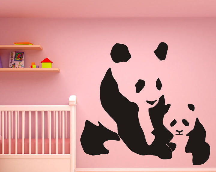 Panda Family Decal Vinyl Wall Sticker