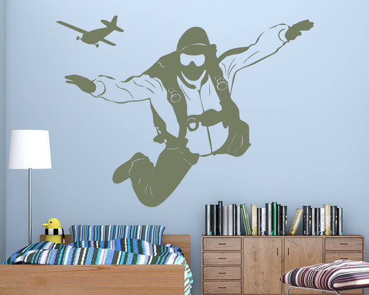 Parachute Jump Decal Vinyl Wall Sticker