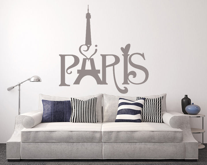 Paris Decal Vinyl Wall Sticker