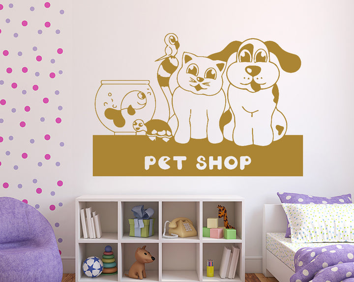 Pet Shop Decal Vinyl Wall Sticker