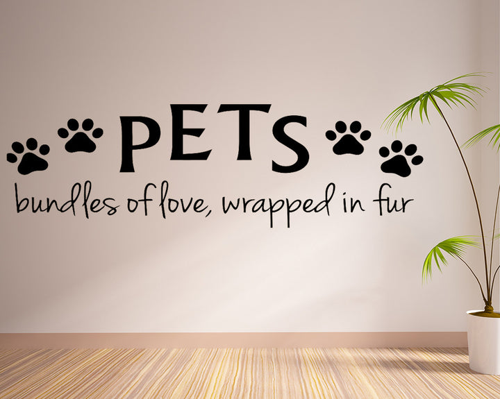 Pets Bundles Of Love Decal Vinyl Wall Sticker