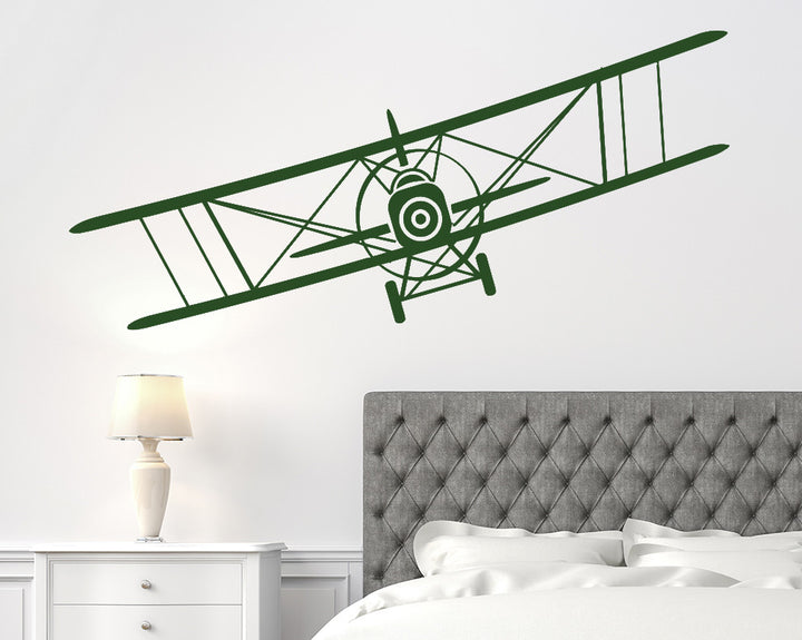 Flying Plane Decal Vinyl Wall Sticker