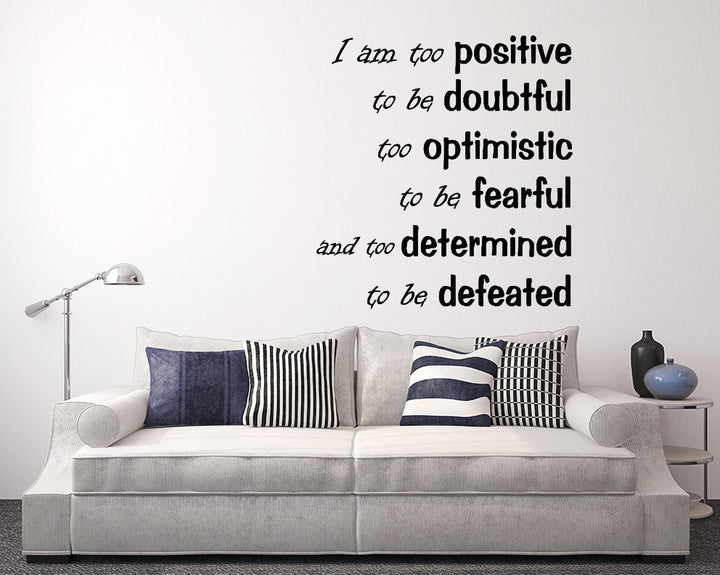 Positivity Happy Quote Decal Vinyl Wall Sticker