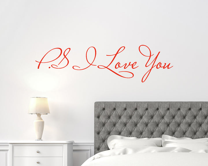 P.S I Love You Romantic Decal Vinyl Wall Sticker