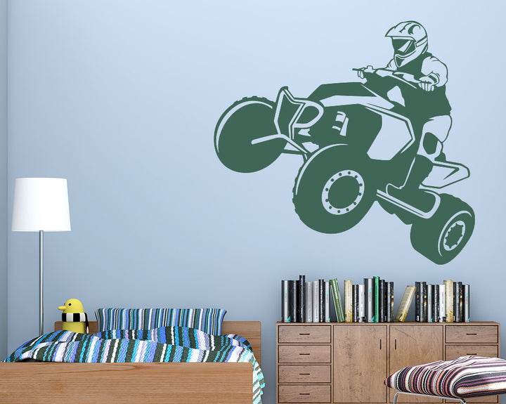 Quad Bike Decal Vinyl Wall Sticker