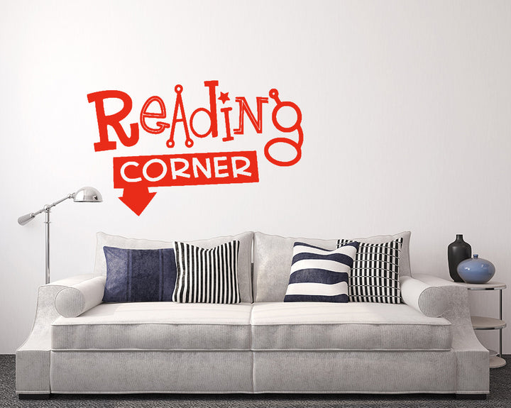 Reading Corner Decal Vinyl Wall Sticker