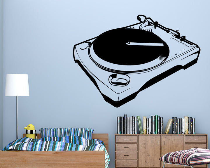 Record Music Player Decal Vinyl Wall Sticker