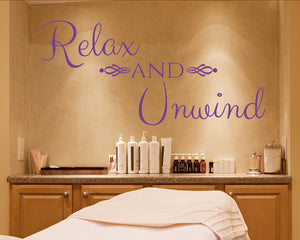 Relax Unwind Decal Vinyl Wall Sticker