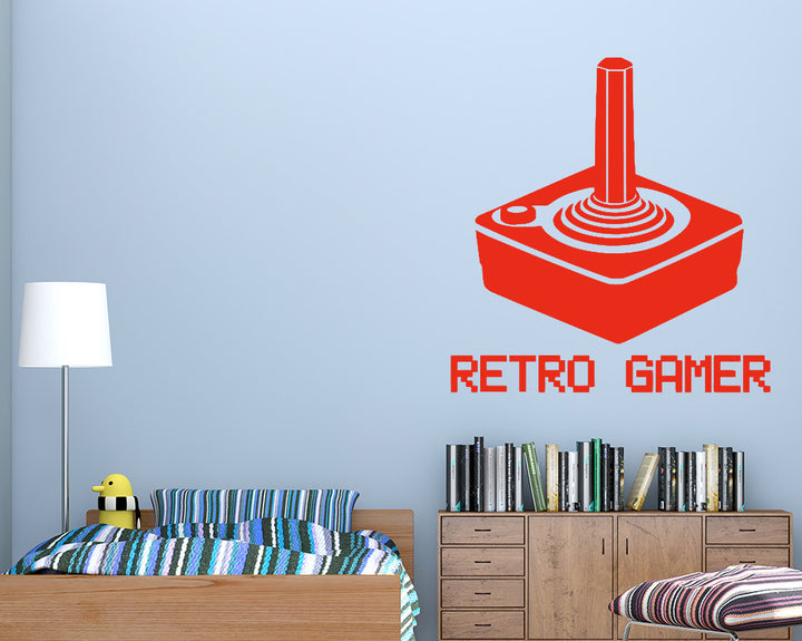 Retro Gamer Decal Vinyl Wall Sticker