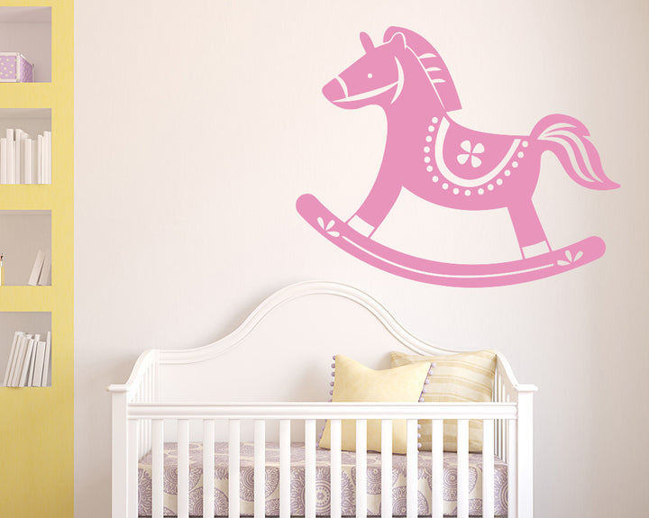 Rocking Horse Decal Vinyl Wall Sticker