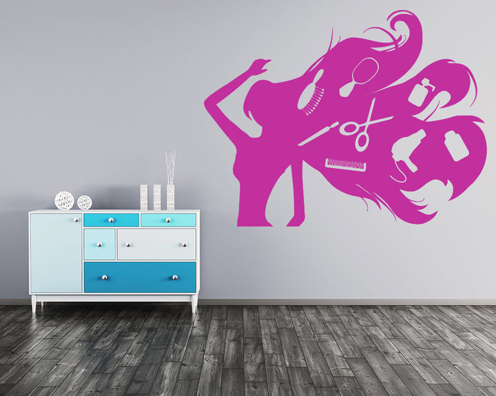 Hair Products Decal Vinyl Wall Sticker