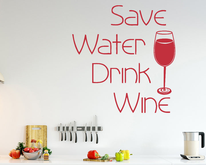 Drink Wine Decal Vinyl Wall Sticker